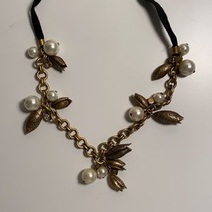 J. Crew Pearl and Petal Necklace